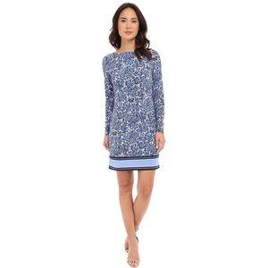 Michael Kors Blue Floral Chiltington Shift Dress
